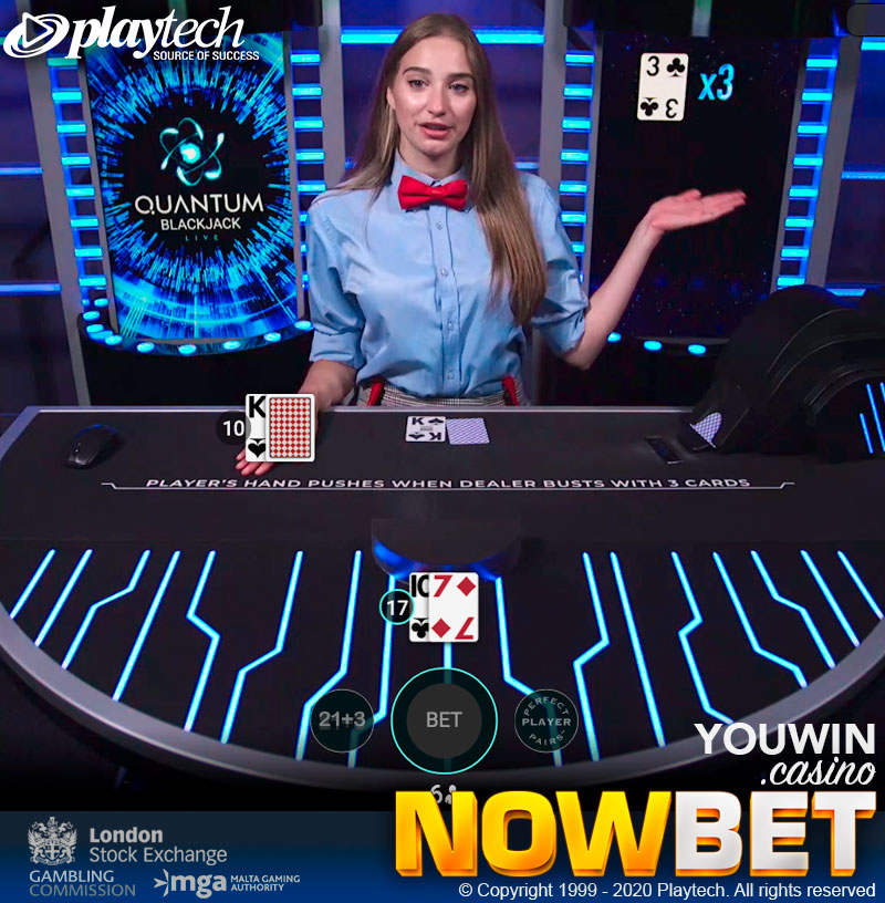 Quantum Blackjack, the Newest Blackjack Experience with Game Show Styles from Playtech