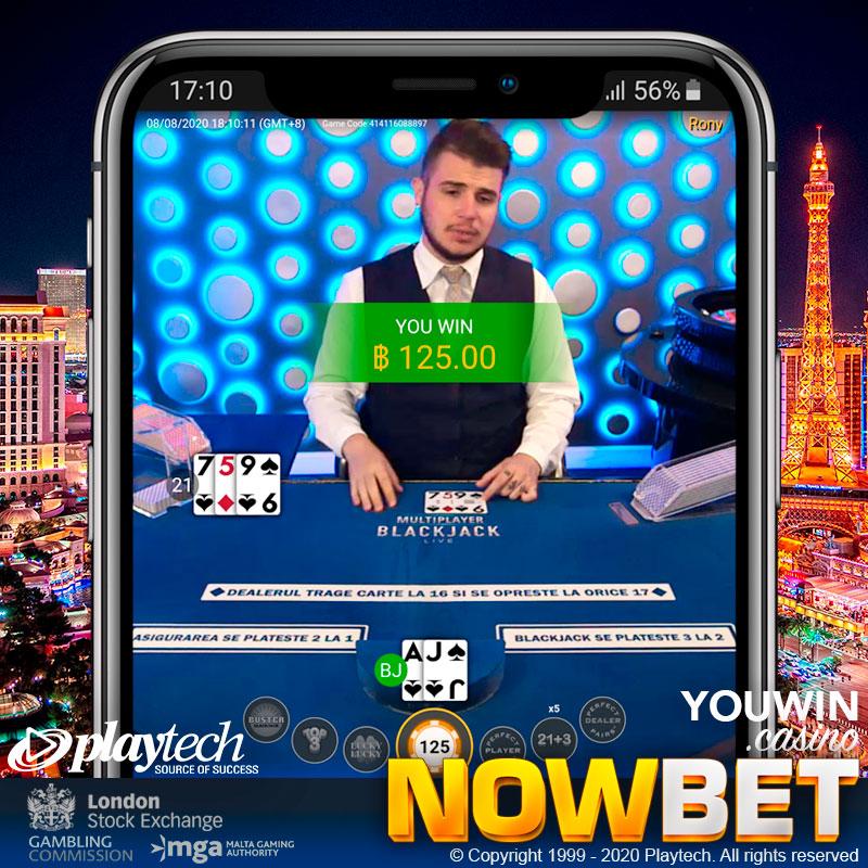 เราสามารถเล่น Live Blackjack บนมือถือ เสมือนเป็น Mobile Blackjack ได้แล้ววันนี้